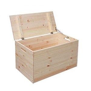 Baúl rústico de madera de pino