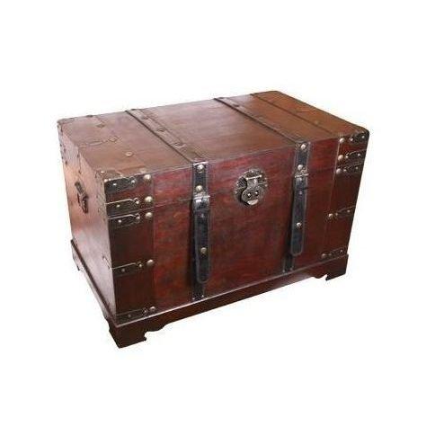 Ba l de viaje peque o madera ba l de madera - Como decorar un baul de madera ...