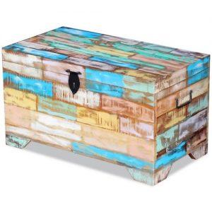 Baúl de madera maciza vintage