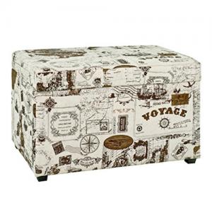 Baúl madera polipiel de diseño