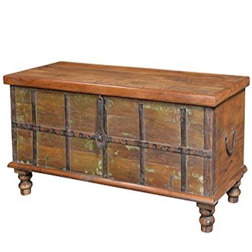 Baúl mesa banco madera vieja India