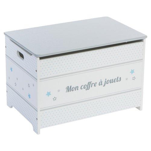 Baúl de madera blanco con estrellas